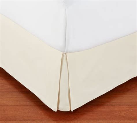 pleated bed skirt pb basic pleated bed skirt pottery barn