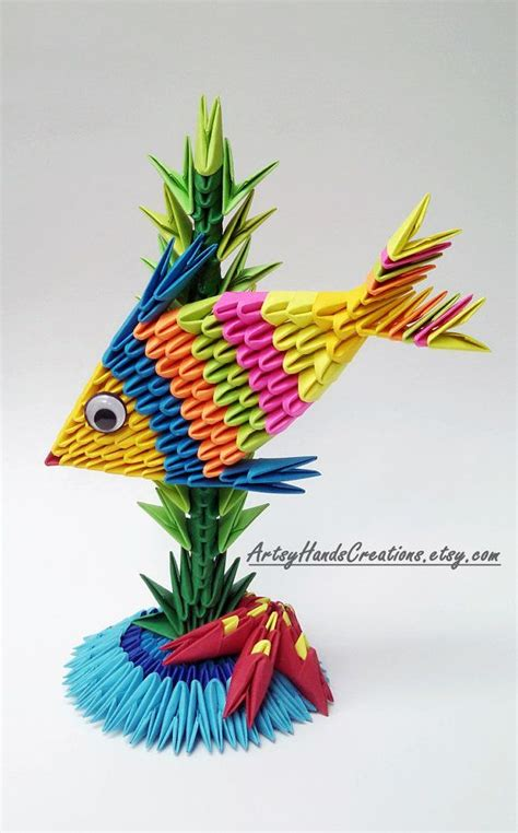 How To Make 3d Origami Fish - 17 best ideas about origami fish on origami