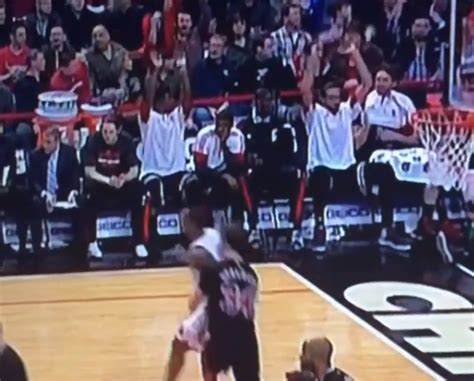 bulls bench the bulls bench did the wave as they blew out the knicks