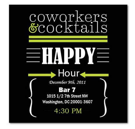happy hour template happy hour invite wording sles invitation templates