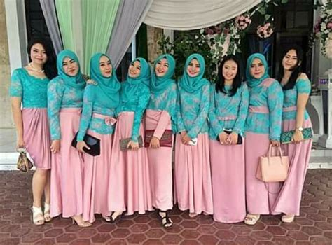 Cape Kebaya Kaftan Brukat Gliter Dusty hijabi bridesmaid dress muslim wedding dress kebaya baju kurung and