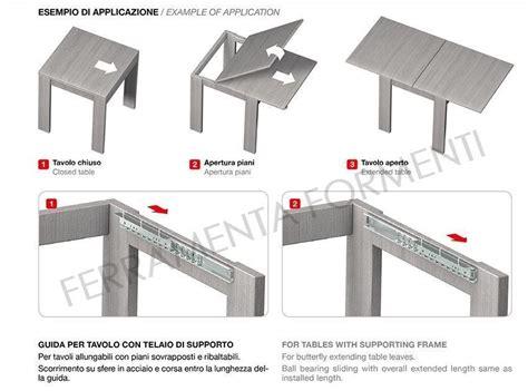 guide scorrevoli per tavoli guide per tavoli allungabili formenti store