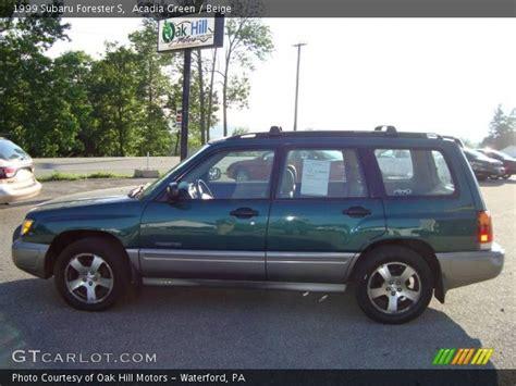Acadia Green 1999 Subaru Forester S Beige Interior