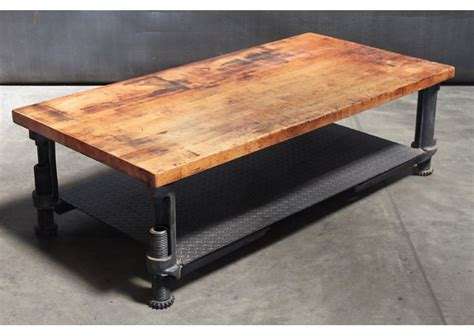 Coffee Tables Ideas: Industrial creation wood and steel