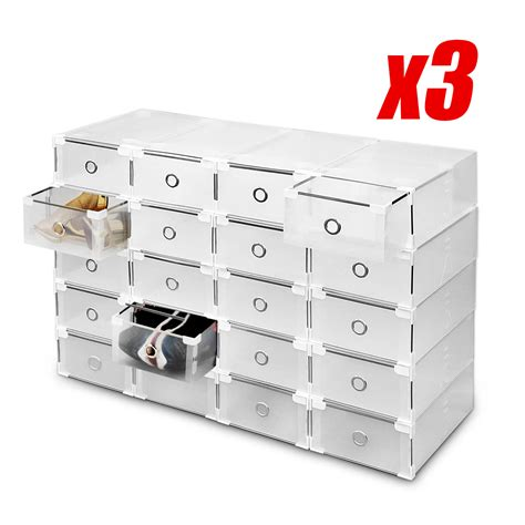 diy shoe box drawer 60 pcs diy clear shoe storage box plastic drawer