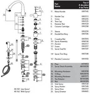 glacier bay kitchen faucet diagram gerber 40 162 kitchen faucet parts