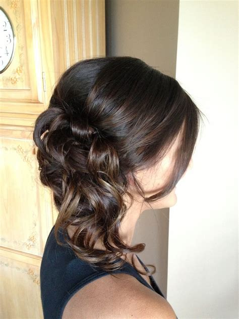 side swipe updo hairstyles prom hair curls updo side swept danielle cosmo hair