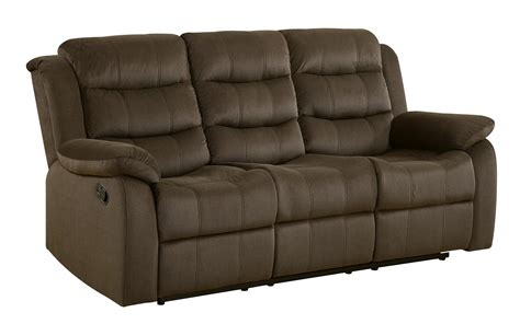 coaster rodman casual motion sofa with pillow arms dunk
