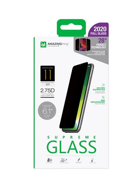 amazingthing apple iphone   privacy dust full glass