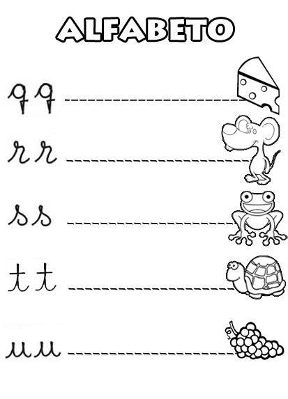 Alfabeto Ilustrado para Completar e Colorir em letra