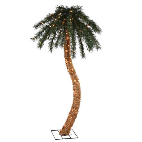vickerman 22477 6 palm tree w curved trunk 200 clear