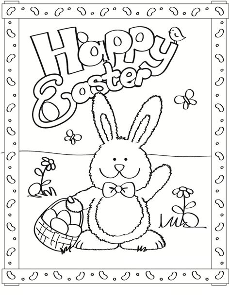 free easter coloring pages for kindergarten free printable easter bunny coloring pages for