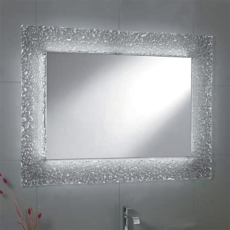 specchi per bagno con cornice specchio da bagno moderno con decoro cornice in vetro e