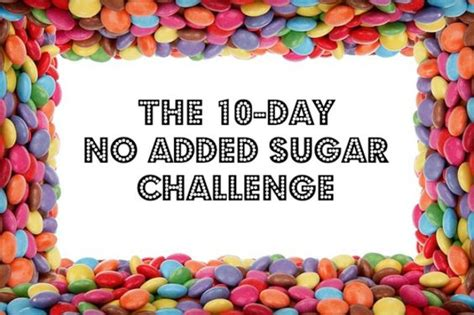 Sugar Detox Fed Up by 10 Day No Added Sugar Challenge A K A Fed Up Challenge