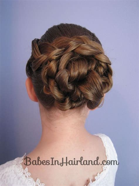 Updo Hairstyles Knotted Braid | easy braid knotted bun updo from babesinhairland com