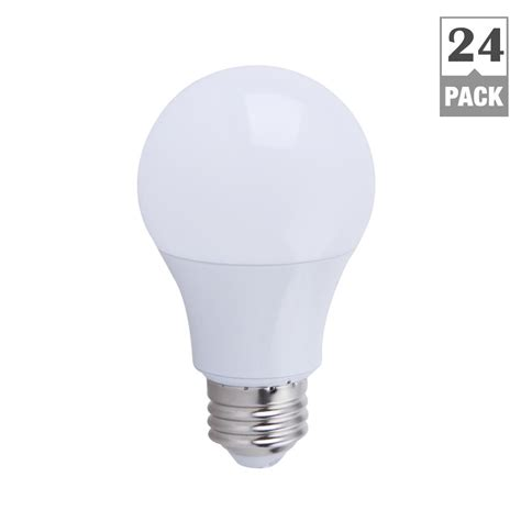 Bohlam Led 9w Lu 9 Watt Halilintar 10 Butir Smd 5730 ecosmart 60w equivalent soft white a19 non dimmable led light bulb 24 pack l5 a1924u 9w 2700k