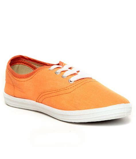 slazenger pastella orange canvas shoes price in india buy