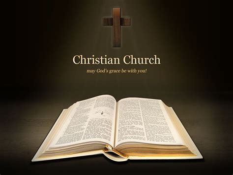 free christian church powerpoint presentation template on