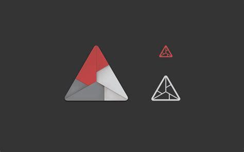 origami logo 28 creative triangle logo designs ideas design trends