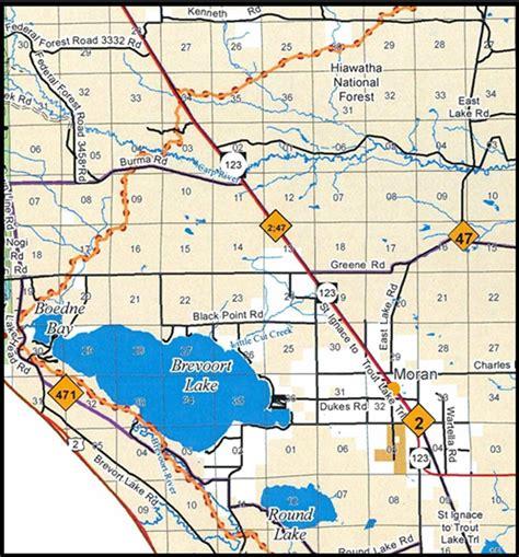 michigan dnr lake maps washout of northern michigan trail causes temporary
