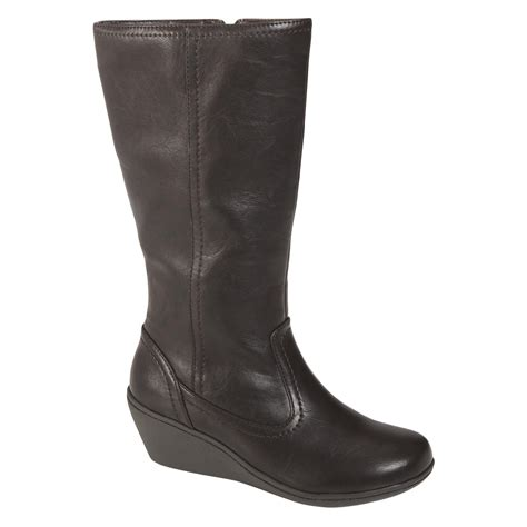 Boots Fashion Ad An 30 Wedges Hitam i comfort s fashion wedge boot patty brown