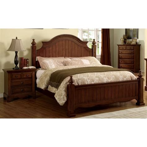 2 piece bedroom set furniture of america fletcher 2 piece king panel bedroom