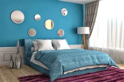 colori pareti matrimoniale azzurro e verde per le pareti della matrimoniale