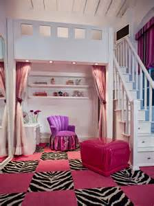 Bedroom with zebra and pink pattern carpet tiles this pretty pink