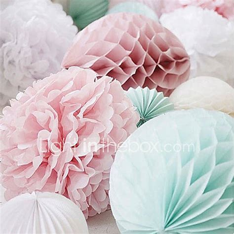 4 pcs 10 Inch (25cm) Honeycomb Tissue Paper Flower Ball