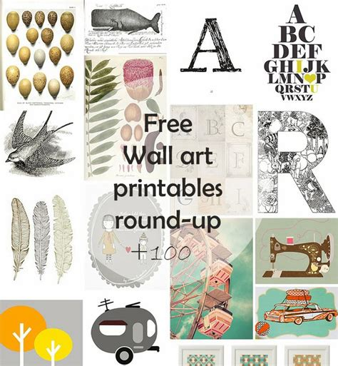 free wall printable 100 home decor