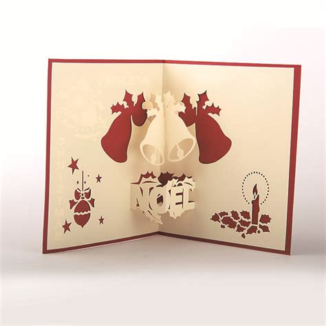 Pop Up Handmade Cards - happy new year 3d pop up handmade multi style