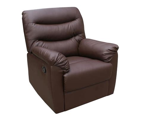 faux leather recliner chair bridford brown faux leather manual recliner