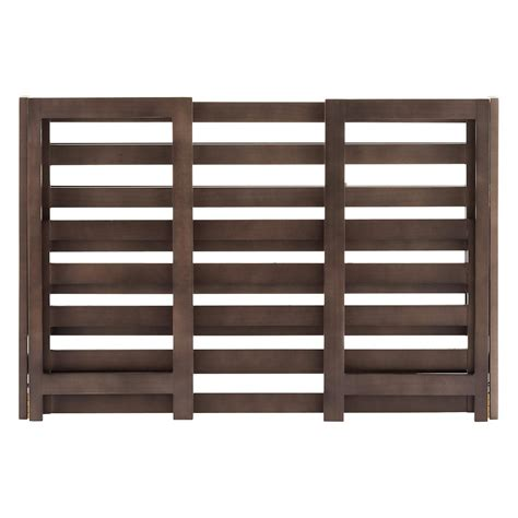 3 tier driftwood folding shoe rack the container store