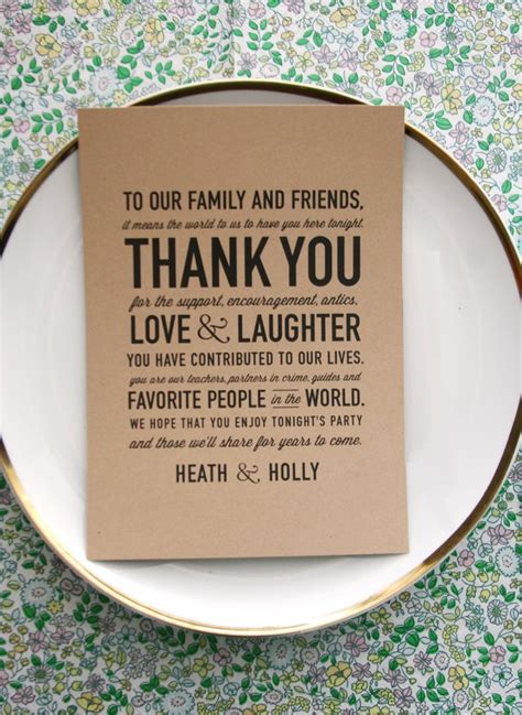 thank you cards for wedding dinner plates template wedding reception thank you card so sweet and makes a