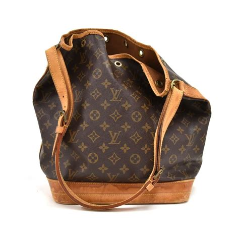 louis vuitton vintage noe large monogram brown cotton