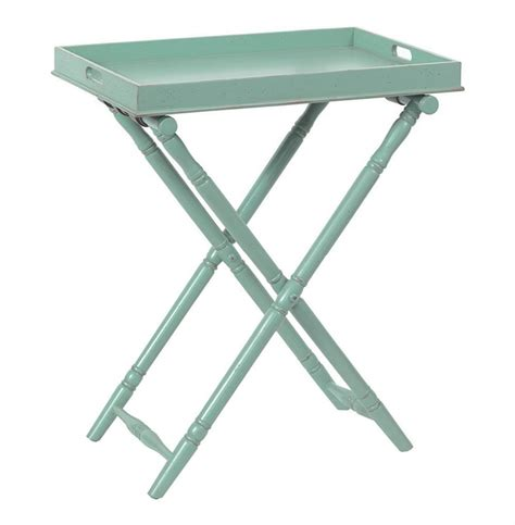 Folding Tray Table Ikea Butler Style Folding Tray Table Turquoise Kathy Kuo Home