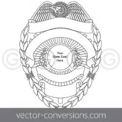 Police Badge Illustration Vector Conversion sketch template