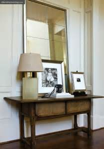 Mirror And Table For Foyer Leaning Entry Mirror Design Ideas