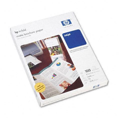 How To Make A Brochure With Paper - hp hewq5443a tri fold inkjet brochure paper