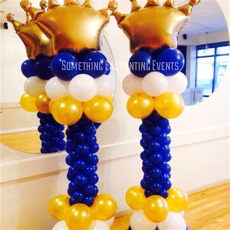 Balloon Tower For Baby Shower by Gold Crown Balloon Prince Theme Baby Shower Prince