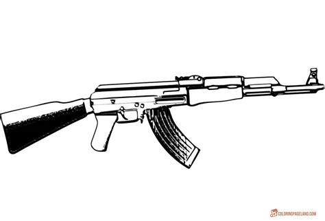 gun coloring pages   print