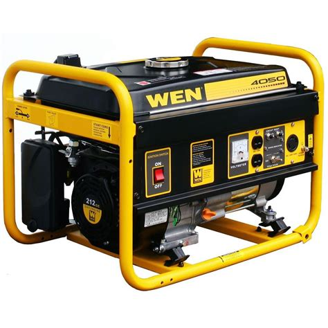 wen 4 050 watt gasoline powered portable generator 56400