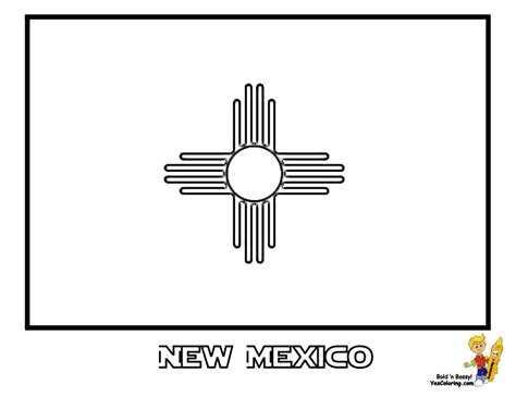 New Mexico State Flag Coloring Page nm nm colouring pages