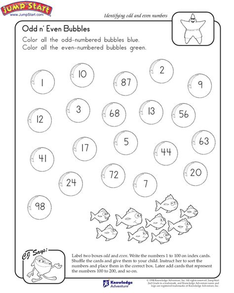 Even And Numbers Worksheets Grade 2 by Quot N Even Bubbles Quot 2nd Grade Math Worksheet On