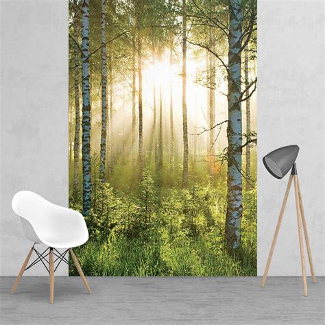 green wallpaper for feature wall green summer forest sunshine feature wall wallpaper mural
