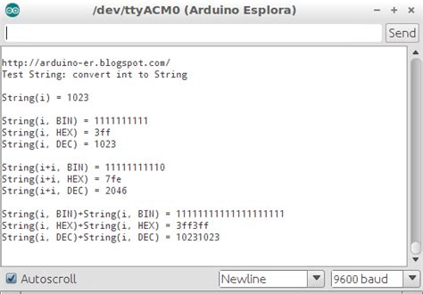 How To String - arduino er convert int to string