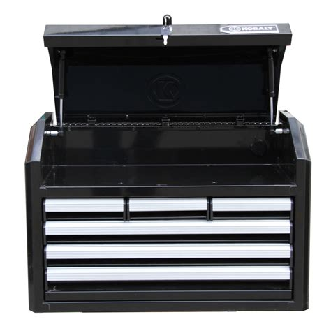 Kobalt Tool Box Drawer Slides by Shop Kobalt 17 25 In X 26 7 In 6 Drawer Bearing Steel