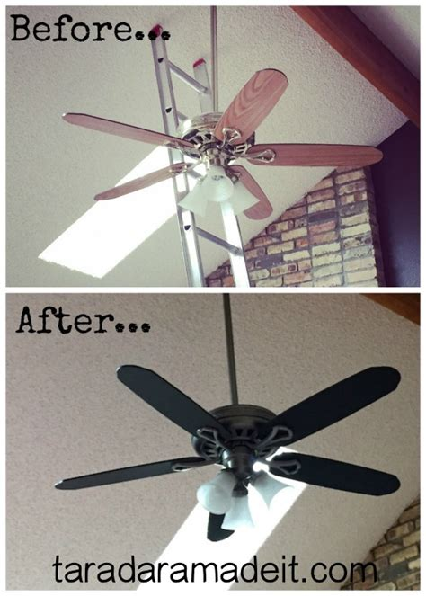 Remove Ceiling Fan by Paint Your Ceiling Fan Without Removing It From The