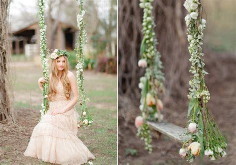 swing wedding romantic spring wedding ideas wedding fashion wedding