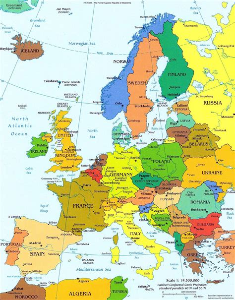 europe map all countries detailed political map of europe with capitals europe